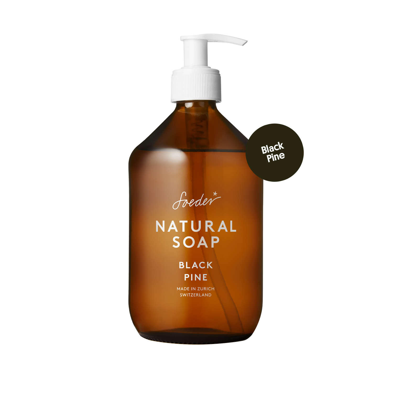 Natural Soap – Black Pine 500 ml von soeder*