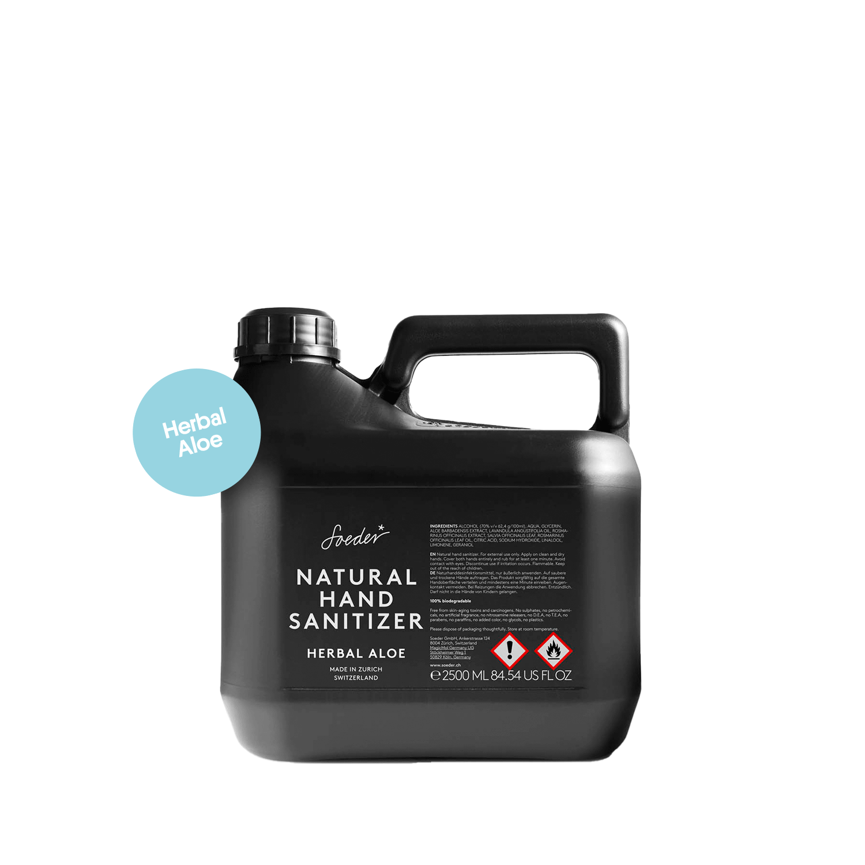 2,5 Liter Refill Hand-Sanitizer HERBAL ALOE von soeder*