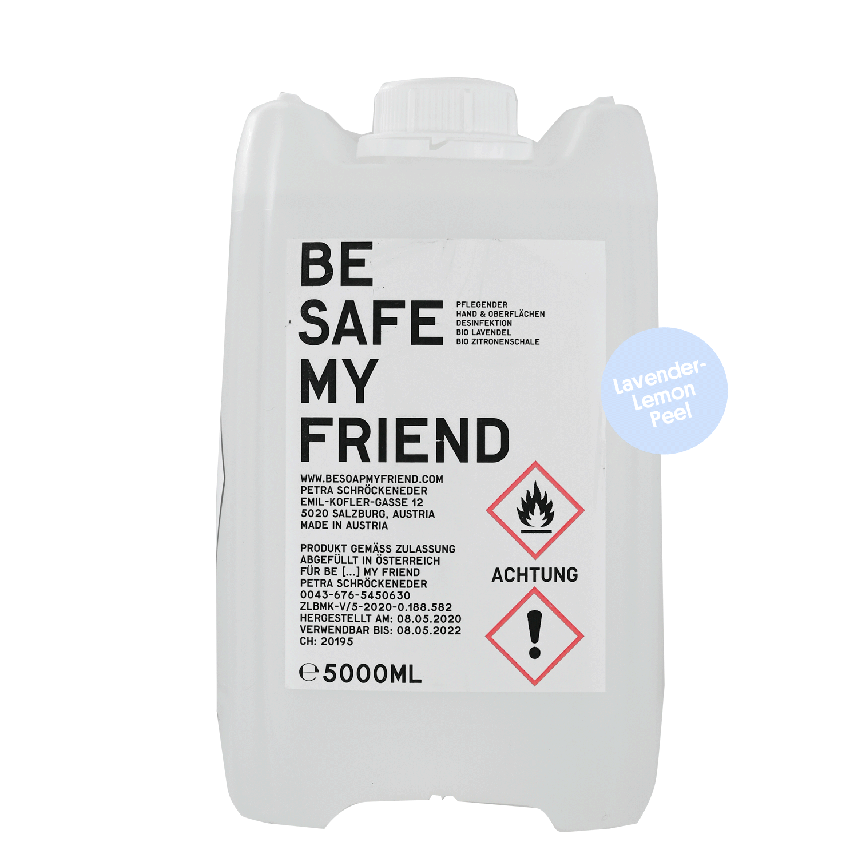 5 Liter Refill Sanitizer organic lavender & lemon peel- von BE [...] MY FRIEND