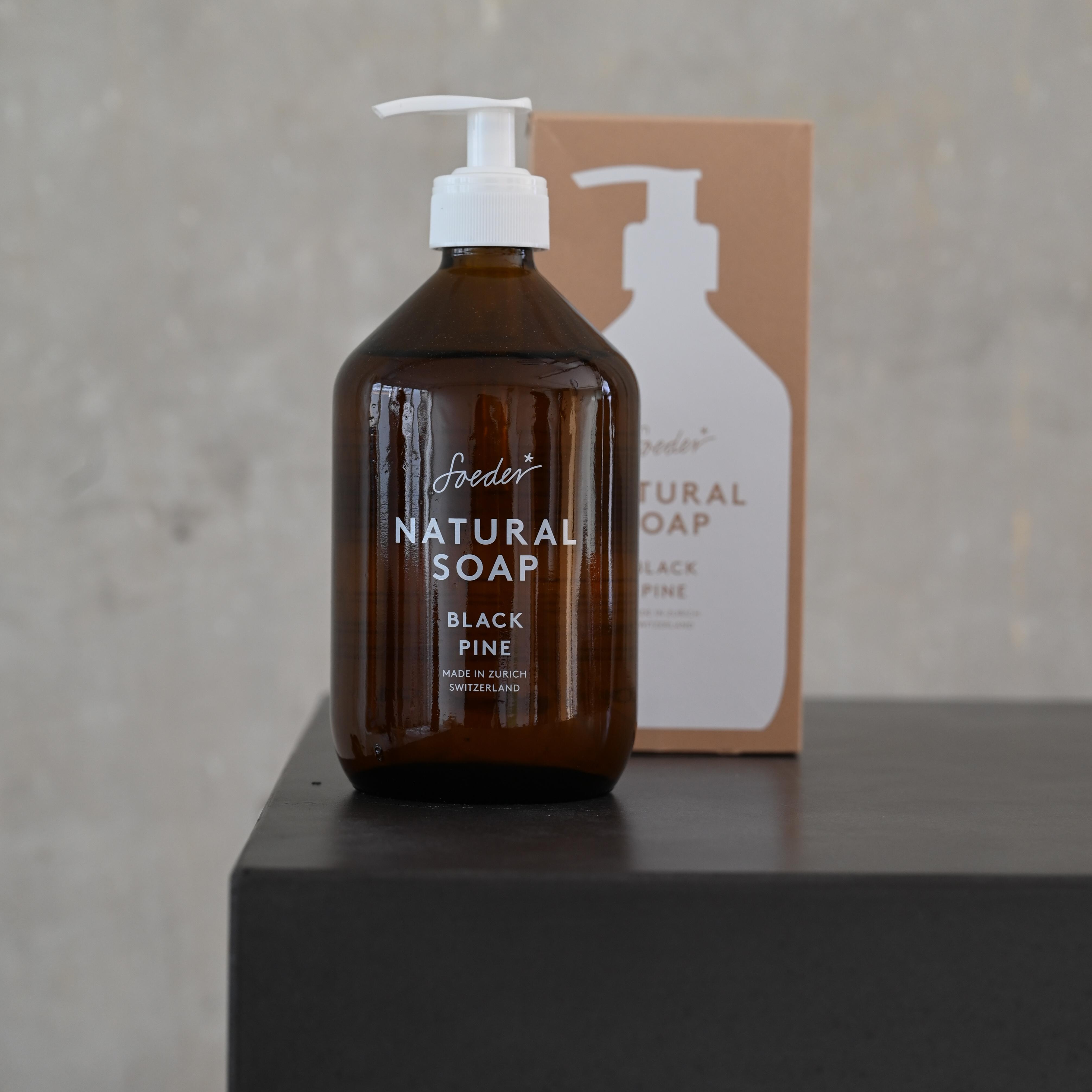 Natural Soap - Black Pine 500 ml von soeder*